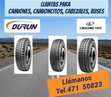 LLANTAS PARA CAMIONES, CAMIONCITOS, CABEZALES,BUSES. TEL. 471 50823