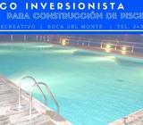 INVERSIONISTA PARA CONSTRUCCIÓN DE PISCINA