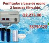 Filtros para agua, purificadores, reparaciones de ozono, llenadoras de agua