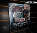 YUGIOH, YU GI OH, SILVER DRAGON VALUE BOX, DECK DE DRAGON BLANCO DE OJOS AZULES, Y 6 SOBRES, RARO, N