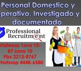 Profesionales en reclutamiento y selección del mejor personal Domestico