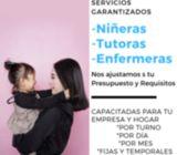 NIÑERAS CON DISPONIBILIDAD INMEDIATA