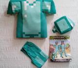 Minecraft, Disfraz completo de Minecraft para niño, Disfraz de niño