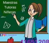 Clases particulares, maestras domiciliarias