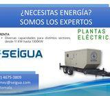 Renta de plantas electricas, equipos electrogenos, generadores.