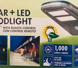 Wagan Luz de calle solar de LED de 1,000 lúmenes Luz de área detectada por movimiento impermeable co