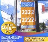 ¡MANTAS VINILICAS CON PROTECCIÓN UV! ADHESIVOS LAMINADOS
