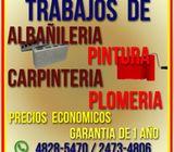Trabajos de Albañileria, Carpinteria, Plomeria