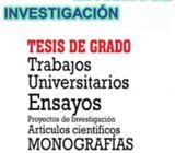 Redacción de tesis, seminarios, monografías, ensayos u otros