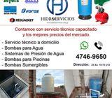 Tecnicos en bombas para agua en cisternas y tanques de agua