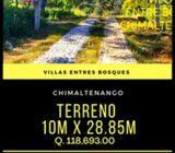 Terrenos en Chimaltenango, a un costado de finca la Loma
