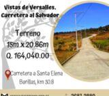 Bonitos terrenos en venta en Carretera al Salvador